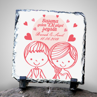 - Romantik Tasarım Taş Baskı