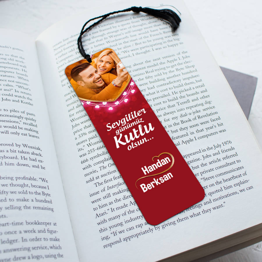Romantik Tasarımlı Kitap Okuma Ayracı
