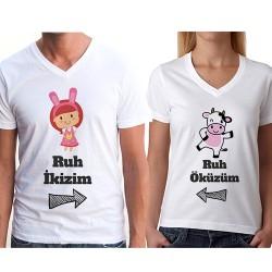 Ruh İkizim - Ruh Öküzüm Sevgili Tişörtleri - Thumbnail