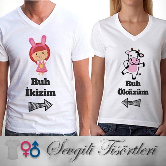 Ruh İkizim - Ruh Öküzüm Sevgili Tişörtleri