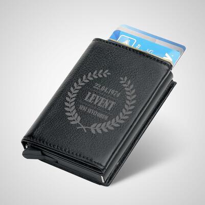 - Sahibine Özel Mekanizmalı Kredi Kartlıklı Cüzdan