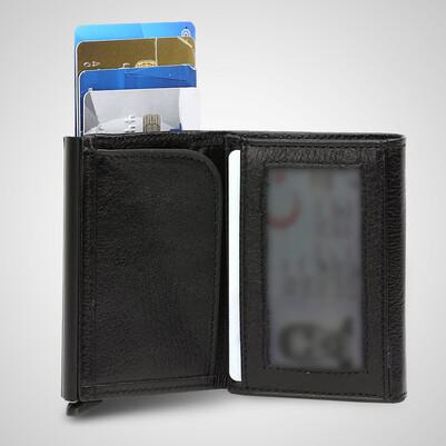 Sahibine Özel Mekanizmalı Kredi Kartlıklı Cüzdan - Thumbnail