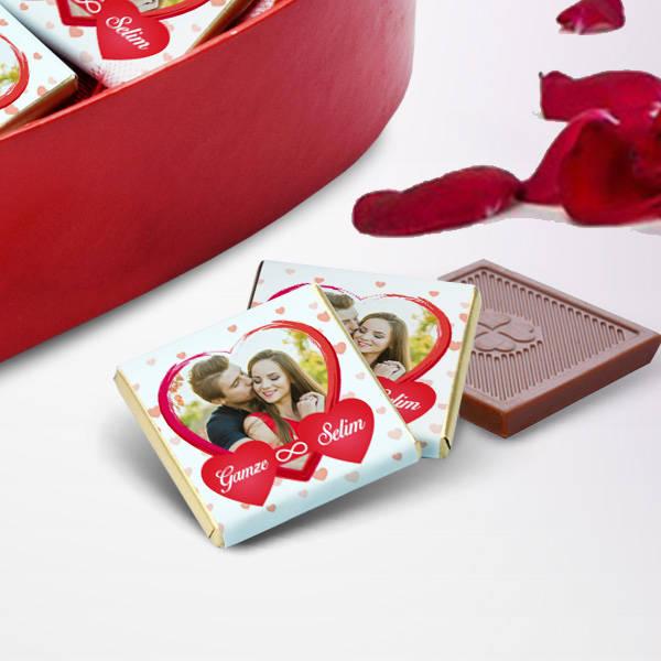 Sana Kucak Dolusu Sevgim Kalp Kutuda Çikolata