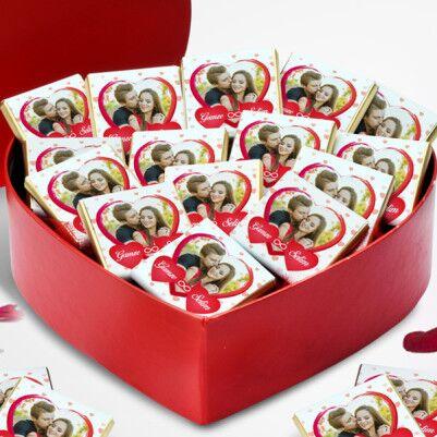 Sana Kucak Dolusu Sevgim Kalp Kutuda Çikolata - Thumbnail