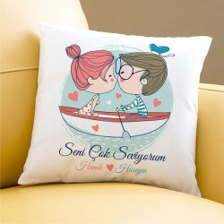 - Sandaldaki Aşıklar Sevgili Yastığı