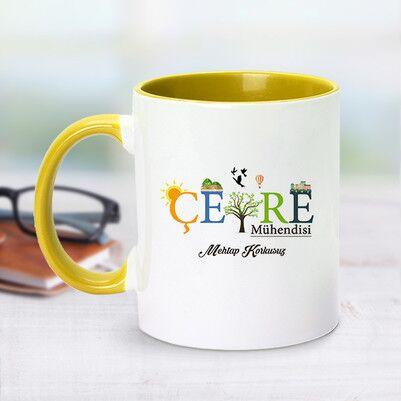 - Sarı Kupa Bardak Çevre Mühendislerine Özel