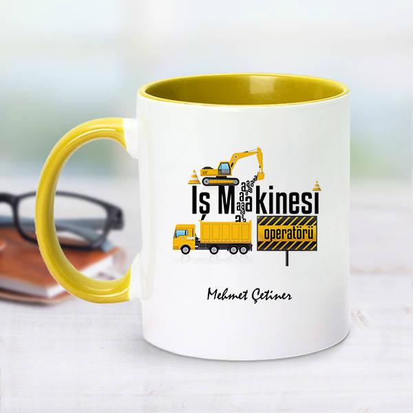 Sarı Kupa Bardak İş Makinesi Operatörlerine Özel