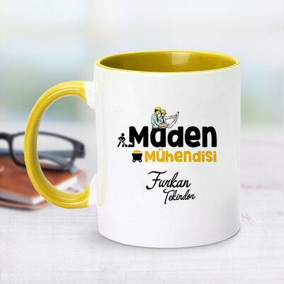 - Sarı Kupa Bardak Maden Mühendislerine Özel