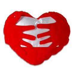 Sarsam Seni Kollarıma Kalpli Yastık - Thumbnail