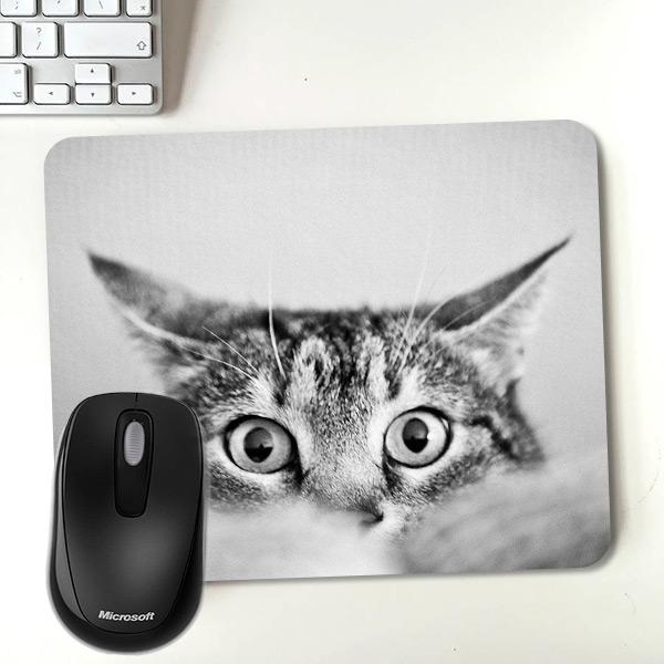 Şaşkın Kedi Temalı Mousepad