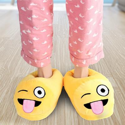 Şaşkın Sevimli Emoji Terlik - Thumbnail