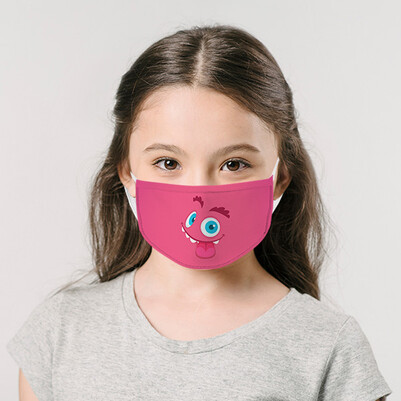 - Şaşkın Surat Çocuk Ağız Maskesi