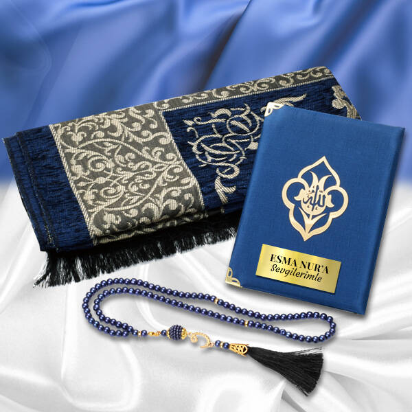 Seccade ve Dualar Hediye Kutusu MAVİ