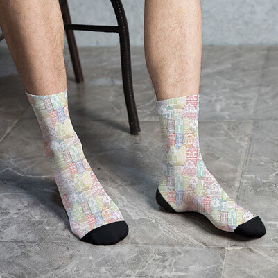 - Şehir Binaları Tasarım Çorap
