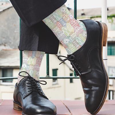 Şehir Binaları Tasarım Çorap - Thumbnail