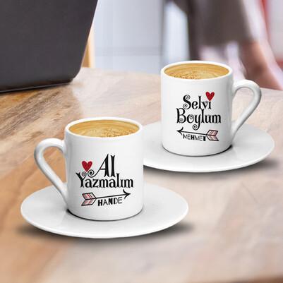 - Selvi Boylum Tasarım İkili Kahve Fincanı