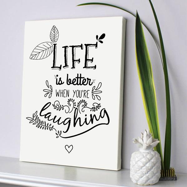 Sen Güldüğünde Hayat Daha Güzel Kanvas Tablo
