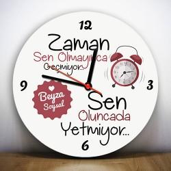 - Sen Olmayınca Zaman Geçmiyor Duvar Saati