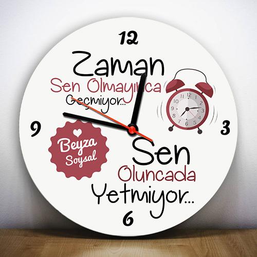 Sen Olmayınca Zaman Geçmiyor Duvar Saati