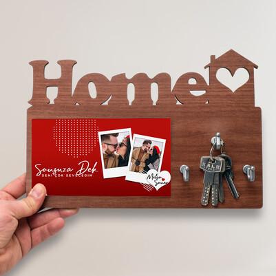 - Seni Aşkla Seveceğim Home Anahtarlık Askısı