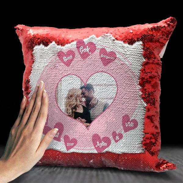 Seni Çok Seviyorum Fotoğraflı Sihirli Yastık