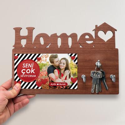 - Seni Çok Seviyorum Home Anahtarlık Askısı