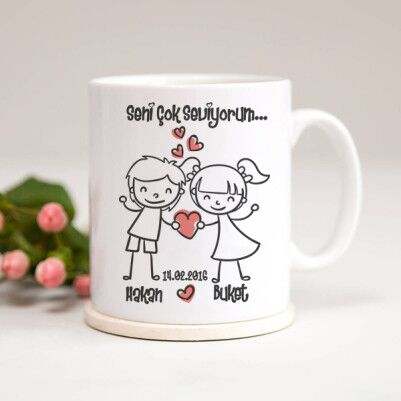- Seni Çok Seviyorum Sevgilim Kupa Bardağı