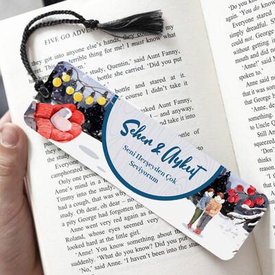 Seni Her Şeyden Çok Seviyorum Kitap Ayracı - Thumbnail