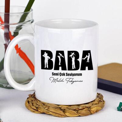 Seni Seviyorum Babacığım Kupa Bardak - Thumbnail
