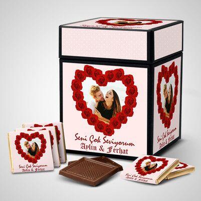Seni Seviyorum Çikolata Kutusu - Thumbnail
