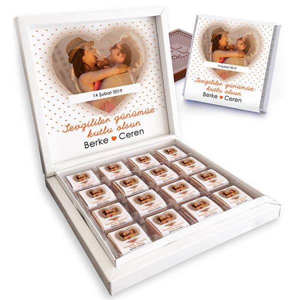 Seni Seviyorum Fotoğraflı Çikolata Kutusu