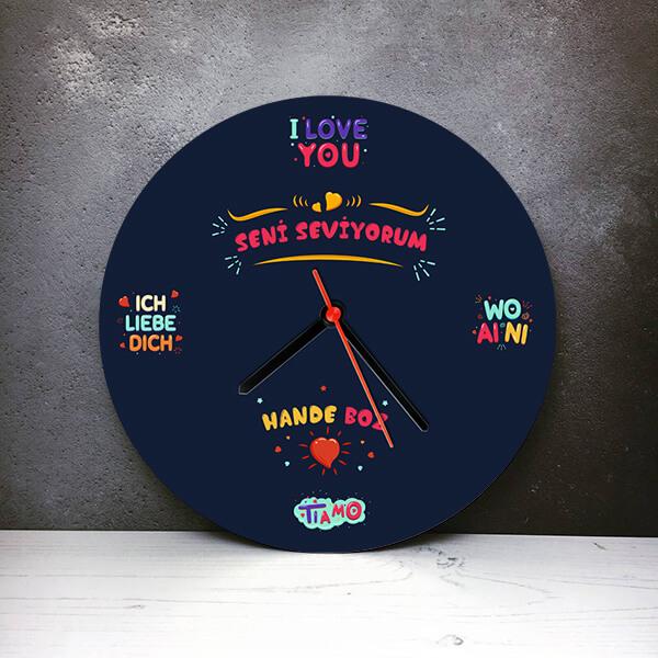 Seni Seviyorum Hediyesi Duvar Saati