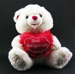 - Seni Seviyorum Kalp Taşıyan Peluş Ayıcık