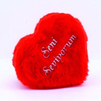 Seni Seviyorum Peluş Kalp Kutuda Aşk Mesajları - Thumbnail