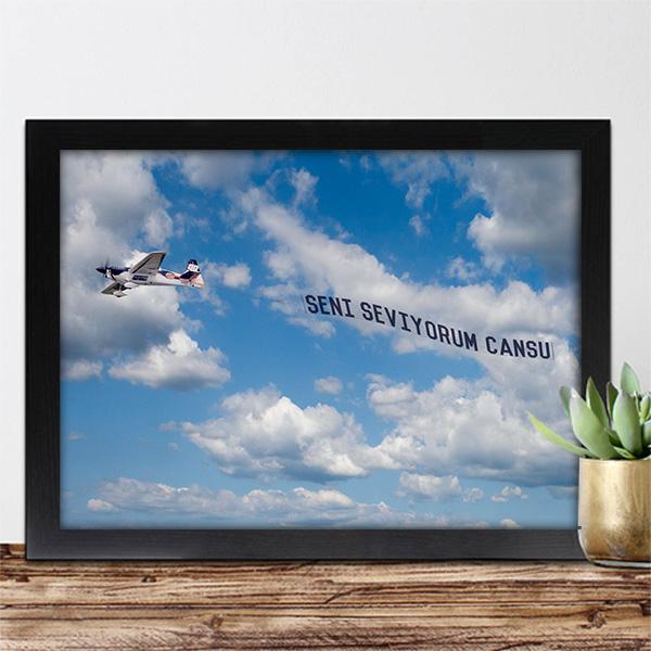 Seni Seviyorum Uçak Pankartı Sertifikası