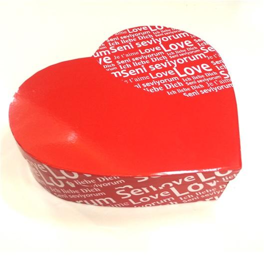 Seni Seviyorum Yazılı Kalp Hediye Kutusu