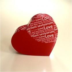Seni Seviyorum Yazılı Kalp Hediye Kutusu - Thumbnail
