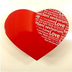 - Seni Seviyorum Yazılı Kalp Hediye Kutusu