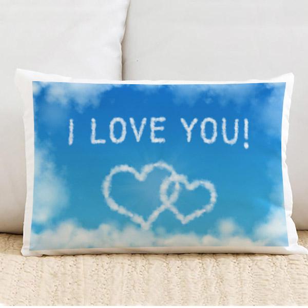 Seni Seviyorum Yazılı Dikdörtgen Yastık