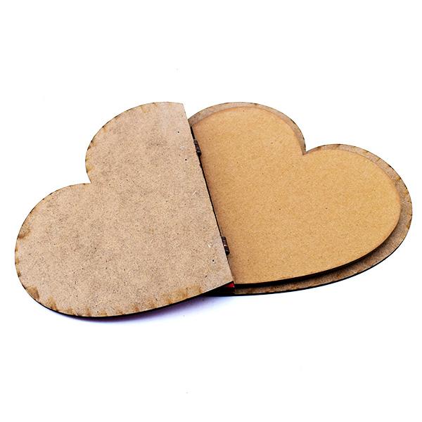 Seni Seviyorum Yazılı Kırmızı Kalp Defter