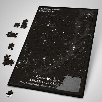 Seni Tanıdığımda Yıldızlar Puzzle - Thumbnail