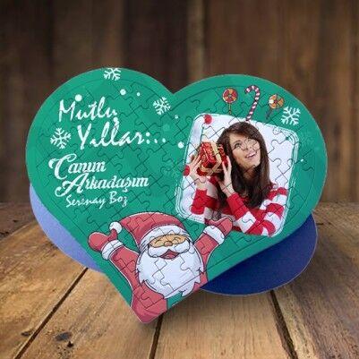 Senin Yılın Olsun Kalp Puzzle - Thumbnail