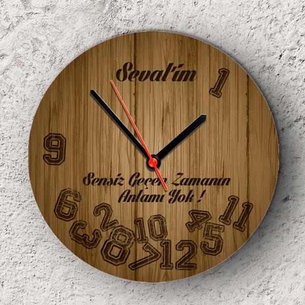 Sensiz Geçen Zamanın Anlamı Yok Duvar Saati