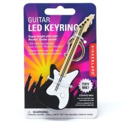 Sesli ve Işıklı LED Gitar Anahtarlık - Thumbnail