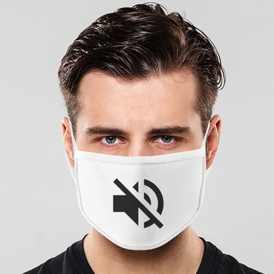 - Sessiz Hoparlör Tasarım Ağız Maskesi