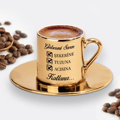 Seven Katlanır Gold Kahve Fincanı - Thumbnail