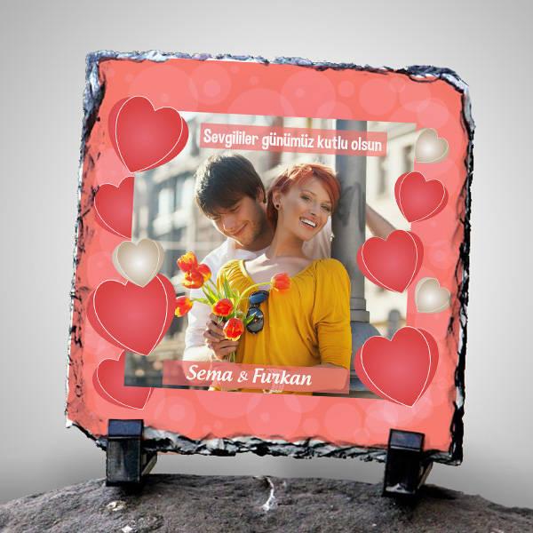 Sevgi Temalı Fotoğrafınıza Özel Taş Baskı