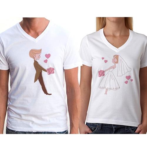 Sevgili Tişörtleri - 2'li Ellerimiz Ayrılmasın T-Shirt