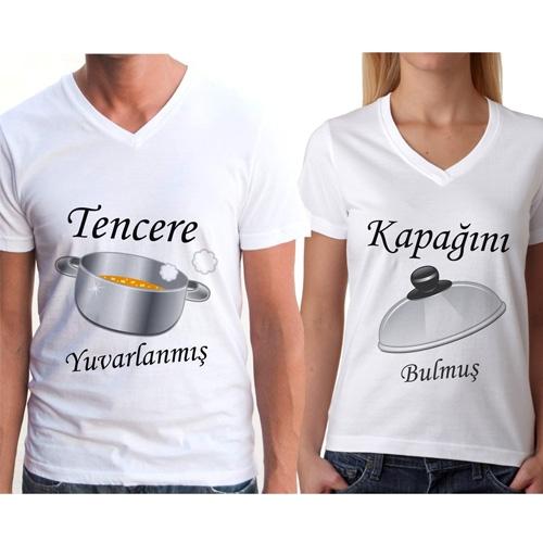 Sevgili Tişörtleri - Tencere ve Kapak