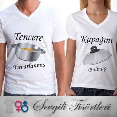 - Sevgili Tişörtleri - Tencere ve Kapak